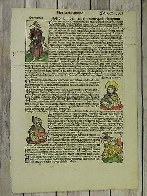Nuremberg Cheonicle 1493 Historic Figures #228 With 6 Woodcuts