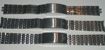 3 Vintage Bulova Accutron Watch Bands New Old Stock