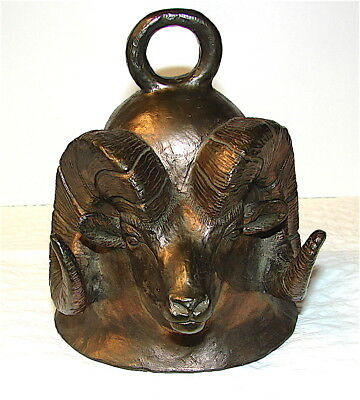Carl Wagner Mountain Big Horn Bronze Bell----No.24/1000,,,Signed---1977