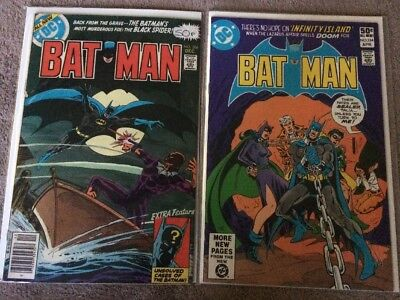 Batman 306 & 334 Black Spider & Catwoman