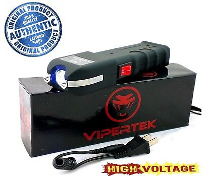 VIPERTEK High Voltage 180 Billion Volt Rechargeable Stun Gun - Bright LED Light