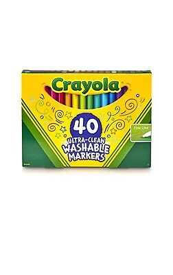 crayola 40 ct ultra clean fine line markers washable fine tip for