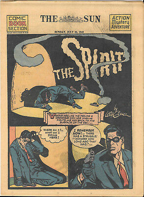 THE-SPIRIT-weekly-newspaper-comic-Chicago-Sun-Sunday-July-25-1943-vintage-comic