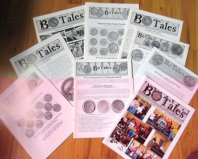 Bulk lot of 9 RARE Hobo Society BoTales Catalogs Publications coin nickel coins