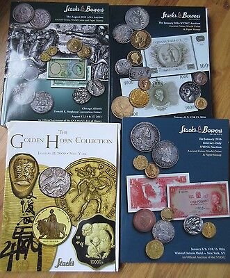 Bulk lot of 6 Ancient Coins Catalogs Stack's Rare major reference coin No Reserv