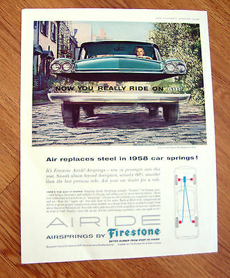 1958 Firestone Airide Airsprings Ad  Ford Chevrolet Playmouth ?