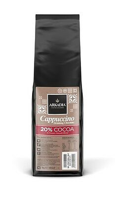 1kg Arkadia Drinking Hot Chocolate 20% Cocoa - Cappuccino Powder Sicilia Coffee