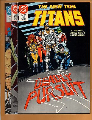 The New Teen Titans #32 33 & 34 2nd series NM to NM+