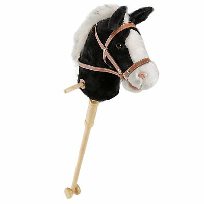 HollyHOME 36 Inches Black Horse Stick With Sound Toy Stuffed Horse Stick