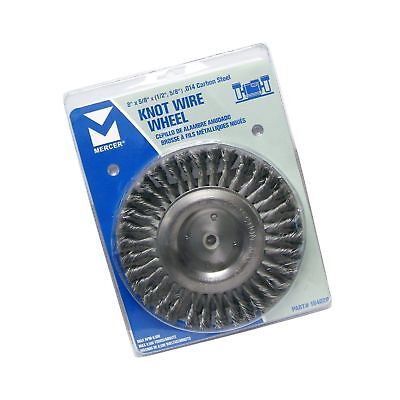 """Mercer Industries 184020 Knot Wire Wheel 8"""" x 5/8"""" x (1/2"""" 5/8"""") For Bench/Pe..."""