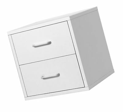 Foremost 327401 Modular 2-Drawer Cube Storage System White