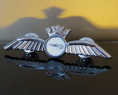 British Airways Crew BA PILOT Wings Pin Insignia silver Badge 60mm replica WING