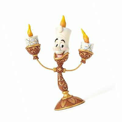 Disney Traditions by Jim Shore Beauty and the Beast Lumiere Stone Resin Figur...