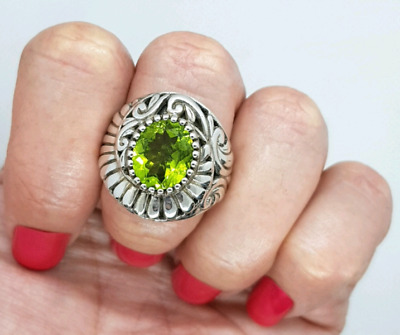 Peridot Ring, August Birthstone, Large Size, Green Gemstone, NEW