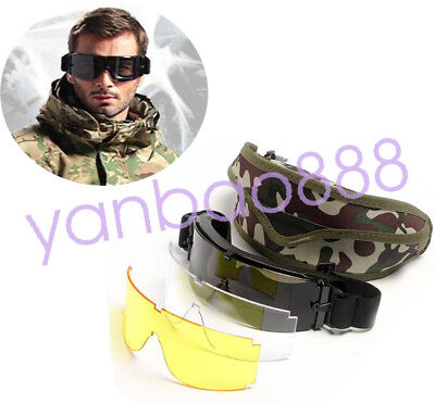 USMC X800 Tactical Airsoft Sunglasses Goggles Protection Cycling Ski Eye Glasses