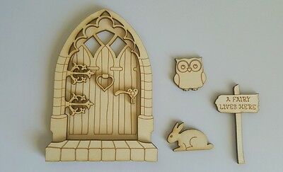 Wooden Fairy Door DIY Fairy Garden Decor Medieval