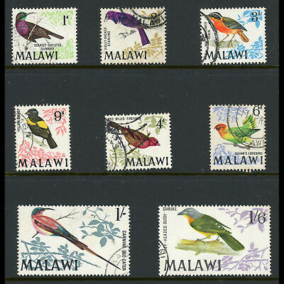 MALAWI 1968 Birds. Short Set to 1s6d. SG 310-317. Fine Used. (AT484)
