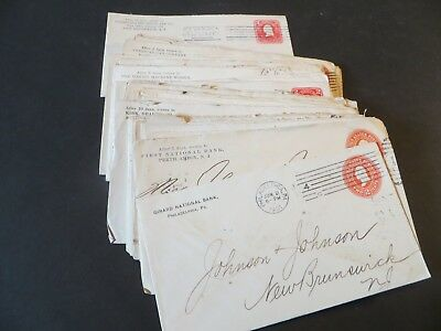 50+ envelopes 1901/04 all addressed to Johnson & Johnson in New Brunswick, NJ