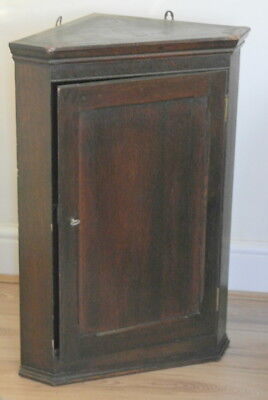 antique oak CORNER CABINET  victorian in date