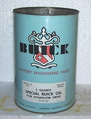 Buick 1950s 5 quart oil  can Very good