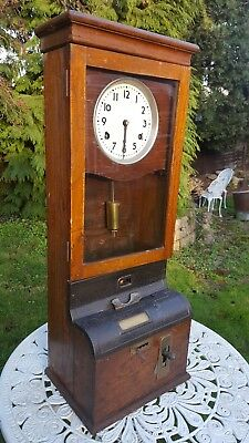International Time Recording Vintage Clocking In Machine
