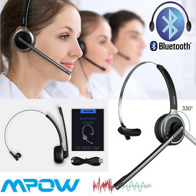 Truck Driver Noise Cancelling Wireless Headphone Boom Bluetooth Business Headset