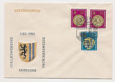 DDR - Briefmarken - 1965 - ETB/ FDC - Messe -  Mi. Nr. 1090-1092