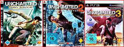 Ps3 4 Games: Uncharted 1 - 3 Adventures + Extragame  / Multilingual