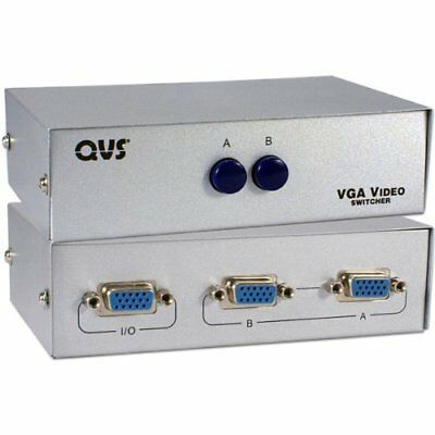 QVS 2-Port HD15 VGA/SXGA Manual Switch CA298-2P