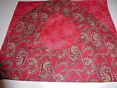 Adult Bibs/clothing protectors for adults, seniors, disabled RED/OLIVE PAISLEY