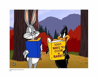 Bugs Bunny & Daffy Duck (cel) related Giclee: 1001 ways to cook rabbit L.E/100