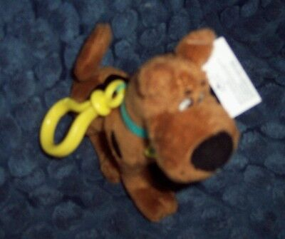 """New Collectible Scooby-Doo 6"""" Plush Backpack Clip - Clip-On Plush Scooby-Doo"""