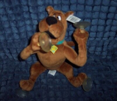 """New Collectible 9"""" Plush Scooby-Doo With Suction Cups Attaches To Windows & More"""