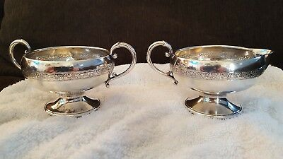 Sugar Bowl and Creamer by G.H. French & Co. Sterling Silver Combined Weight 106g