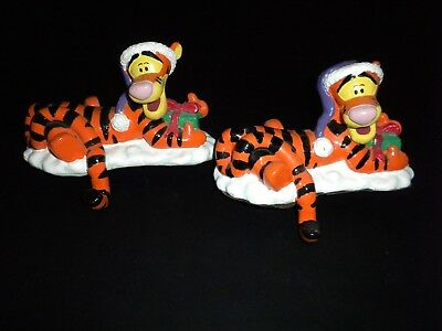 """Disney Pooh """"Tigger Stocking Hooks"""" Cute! Excellent Condition! (TWO HOOKS)"""