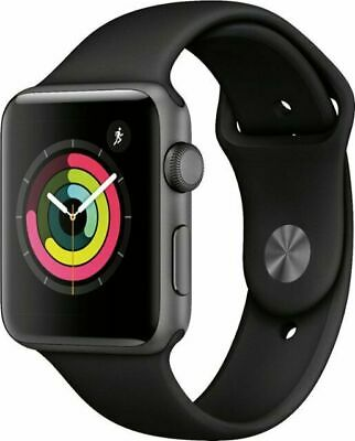 Apple Watch Gen 1 7000 Series 42mm Aluminum Case Black Sport Band