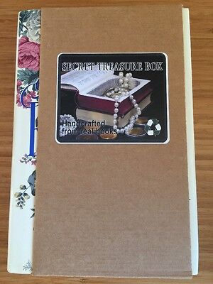 NWT Book Box Stash Box Hidden Compartment Real Recycled Book Large