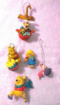 Winnie The Pooh And Friends Ornaments Lot Of 5