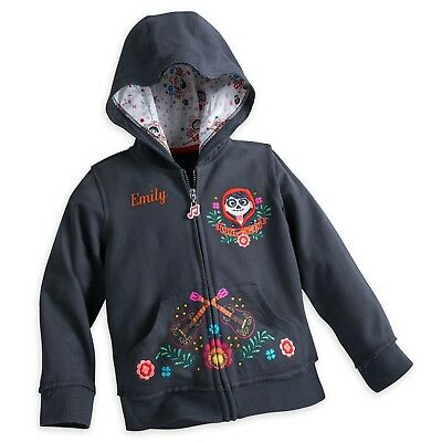DISNEY Store COCO Embroidered HOODIE Jacket for Girls Pick Size NWT