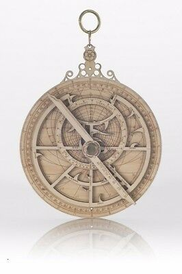 planispheric astrolabe  (computer of the stars)  Laser etched on wood