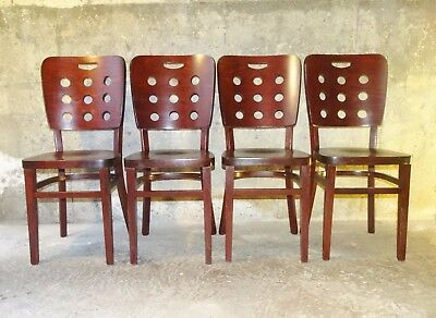 Lot de 4 chaises 1950 style Thonet, design Hoffmann