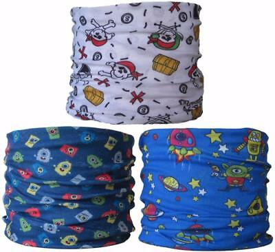 (3 PACK) Neck Tube Pirate Space Man Monster Boys Ski Mask Snood Scarf Skiing Hat