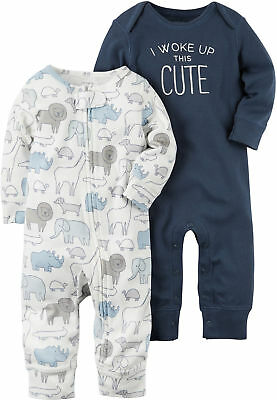 Carters Baby Boys 2-pk. Little Fella Jumpsuits