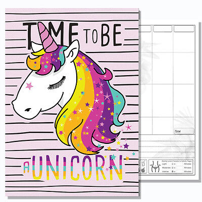 Diet Diary Slimming Weight Loss Diet Planner Food Journal, A5 Tracker, Unicorn