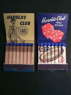 4 Different Matchbooks: Harold's Club, Reno - 1940s/50s - Feature Roulette Wheel