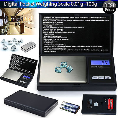 100g Gram Electronic Mini Pocket Digital Gold Jewellery Weighing Weight Scale