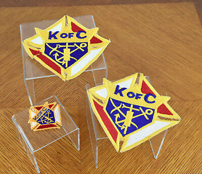 Lot of Three (3) Vintage Knights of Columbus KoC Patches