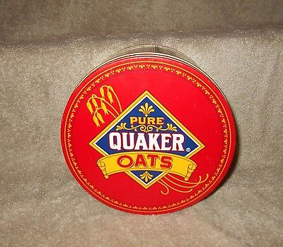 Quaker Oats Advertising Round Tin Can Collectible Limited Edition 1983