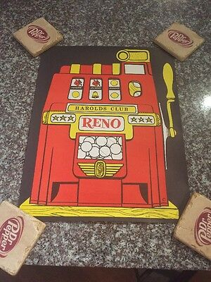 Harolds Club Casino Poster Reno Nevada Las Vegas 1960s Original Advertising Slot