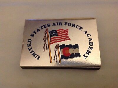 Vintage United States Airforce Academy Chapel Colorado matchbox, Pocketbox slim